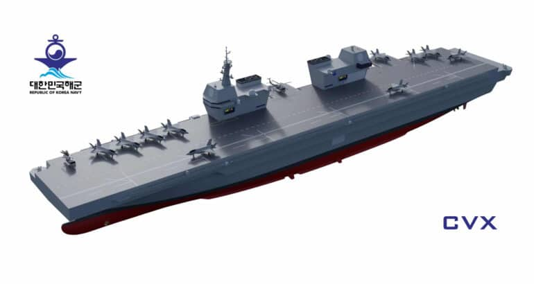 CVX light aircraft carrier South Korea