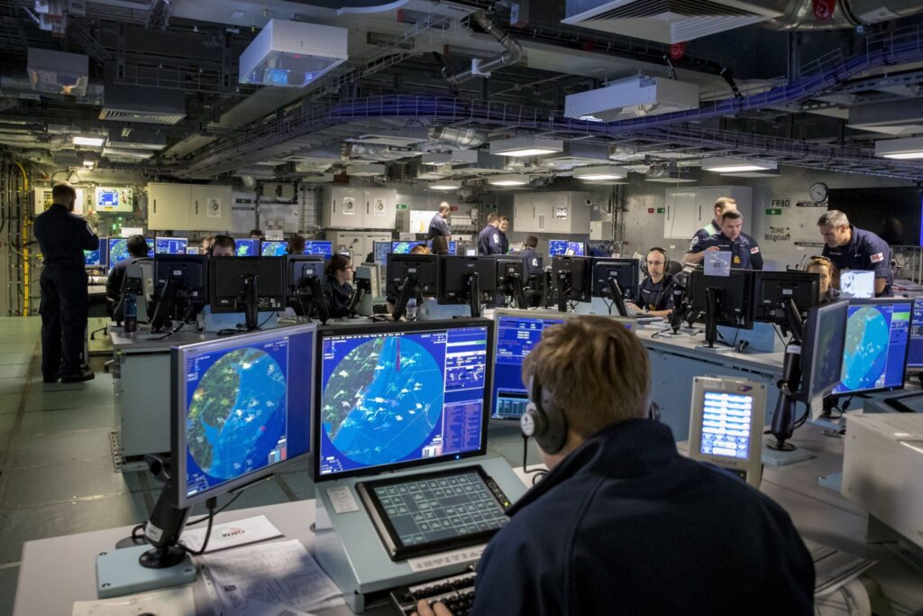 command operations centre aboard HMS Queen Elizabeth