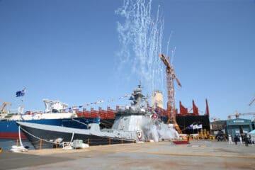 DSME Launches Fifth Daegu-Class FFX Batch II Frigate For ROK Navy