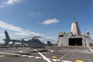 MQ-8C Fire Scout Tested for USMC Amphibious Warfare Mission