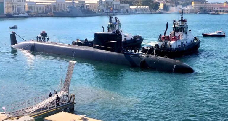 Navantia's new submarine S-81 'Isaac Peral' now in the water for pierside trials