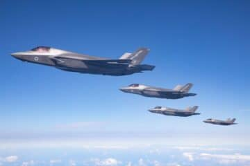 RAF F-35Bs from HMS Queen Elizabeth deployed on Exercise Atlantic Trident