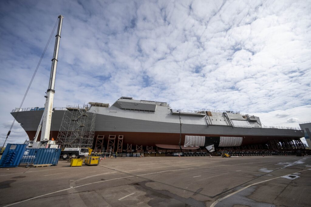 Royal Navy's First Type 26 Frigate HMS Glasgow Takes Shape