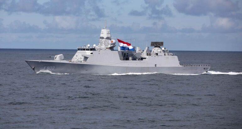 Royal Netherlands Navy's HNLMS De Zeven Provinciën Frigate Tracks Ballistic Missile