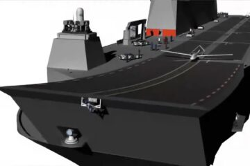 Turkey releases new image showing LHD Anadolu carrying drone
