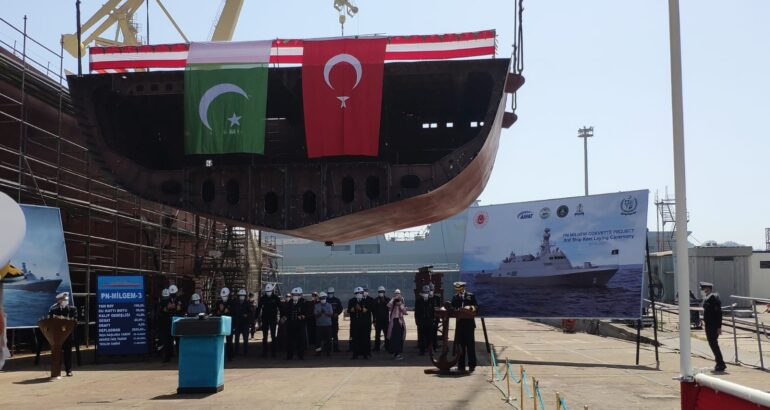 Turkey Laid Keel Of Pakistan Navy's Third MILGEM-Class Corvette
