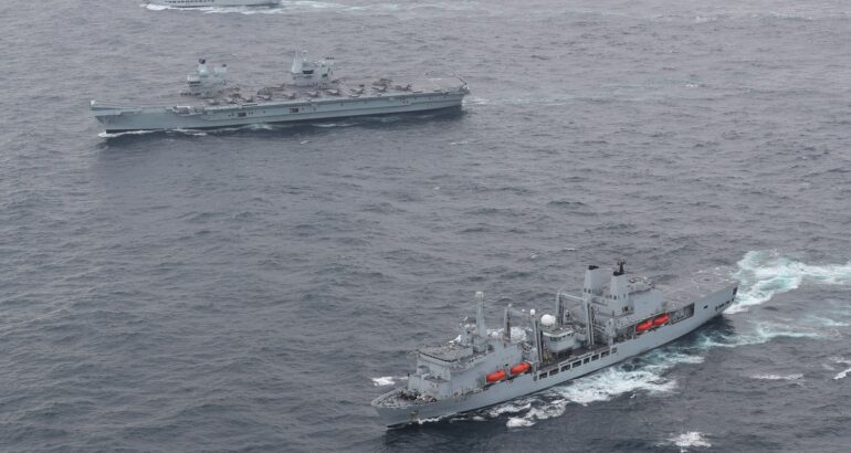 Fleet Solid Support ships will provide support to carrier and amphibious Task Groups at sea.