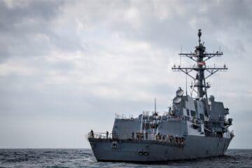 U.S. Navy destroyer joins French CSG in the Mediterranean