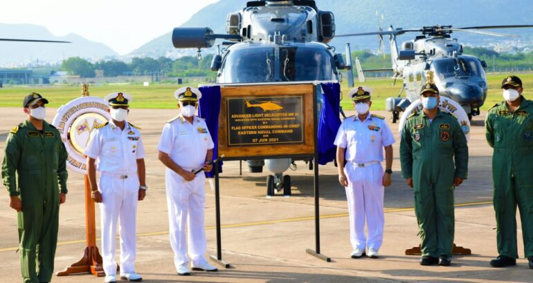 Indian Navy Inducted New ALH Dhruv Mk III Helicopters