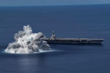 Aircraft Carrier USS Gerald R. Ford Completes First Ship Shock Trials