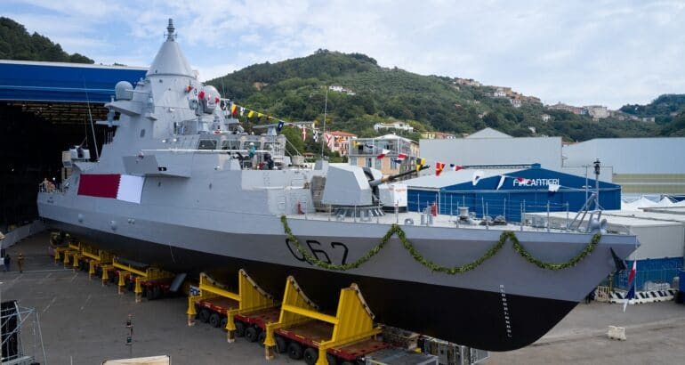 Fincantieri Launches Second OPV, Cuts Steel on Air-Defense LPD for Qatar