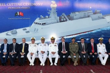 First Steel Cutting For Pakistan's Fourth and Final Jinnah-class
