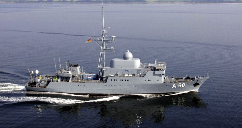 German Navy's SIGINT-ELINT and reconnaissance ship