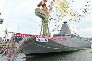Japan's MHI Launches 'Noshiro' 「のしろ」Third 30FFM Mogami-class Frigate For The JMSDF
