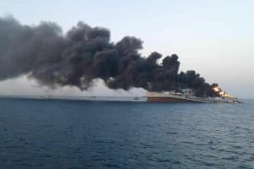 Iranian Replenishment Vessel 'Kharg' Sinks in the Gulf of Oman