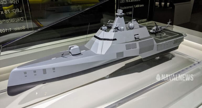 MADEX 2021 HHI Unveils HCX-21 Trimaran for Navies and Coast Guards