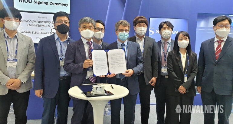 MADEX 2021 Safran Signs MOU with DSME to Strengthen Cooperation in Naval Sector