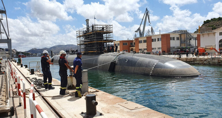 """First grounding of the Spanish submarine S-81 """"Isaac Peral"""""""