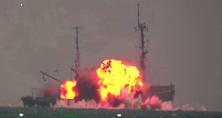 SINKEX: Watch Turkey's anti-ship missile Atmaca Sink a Ship in Final Test
