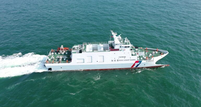 Taiwan Coast Guard Takes Delivery of Second Catamaran Patrol Vessel