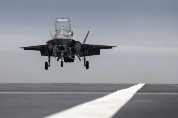 An F-35 Lands On 'HMS Prince of Wales' Aircraft Carrier For The First Time