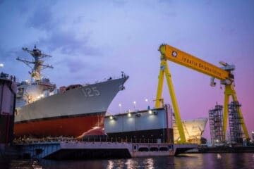 HII Launches First DDG 51 Flight III Destroyer for US Navy