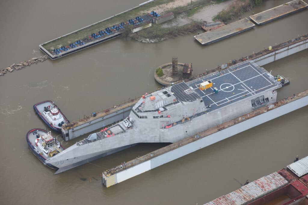 Austal USA Christened Littoral Combat Ship USS Canberra (LCS 30)