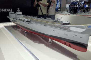 Video: Day 1 at MADEX 2021 – ROK Navy's CVX Light Aircraft Carrier with HHI and DSME