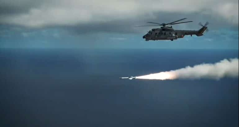 Brazilian Navy Successfully Fired An Exocet AM39 Missile From an Helicopter