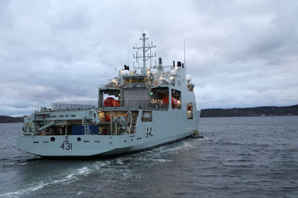 Royal Candian Navy Takes Delivery Of Her Second Arctic And Offshore Patrol Ship