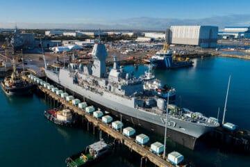 Australian Navy Anzac-class Frigate HMAS Perth Back Afloat After Major Upgrades