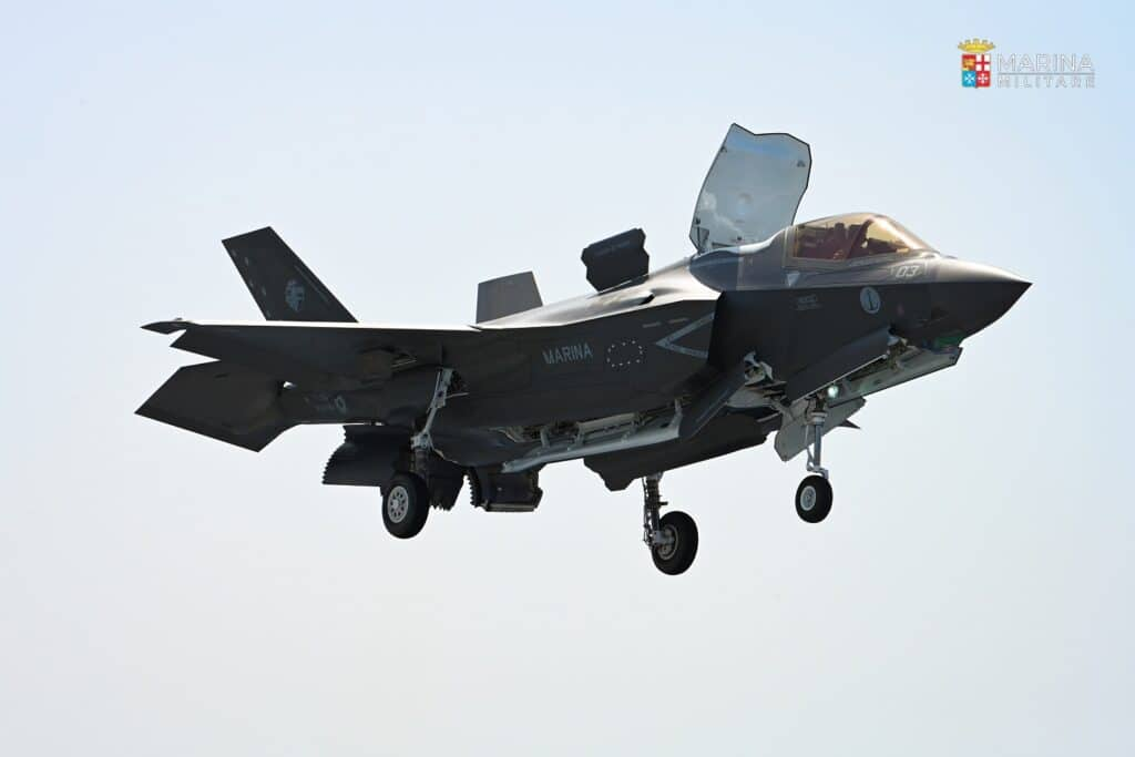 Italian Navy F-35B Lands Aboard ITS Cavour for the First Time