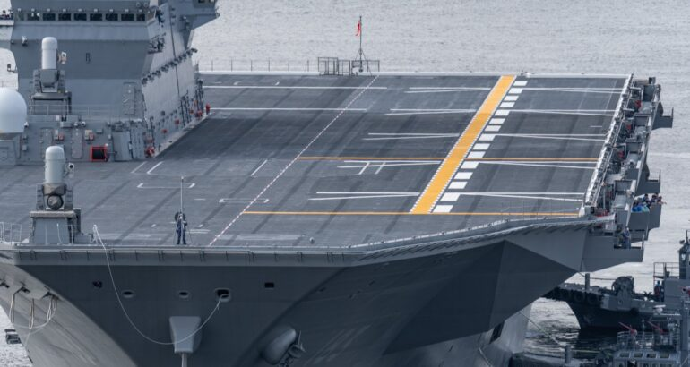 Japan's Izumo Helicopter Destroyer Modified To Operate F-35B Fighters