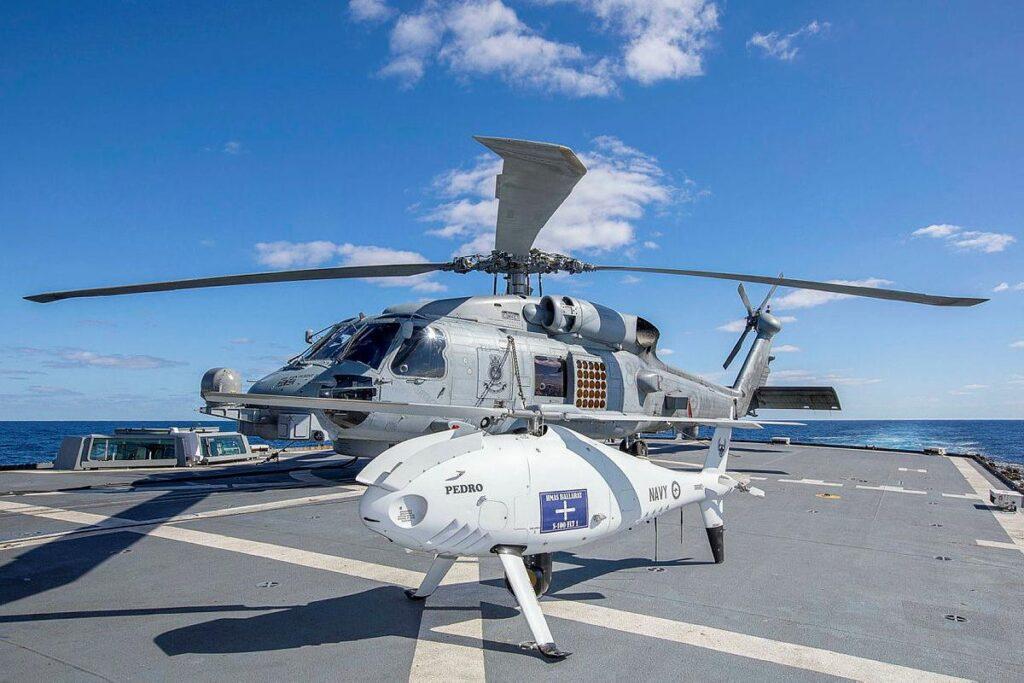 Royal Australian Navy Trials Camcopter VTOL UAV As Part Of Exercise Talisman Sabre