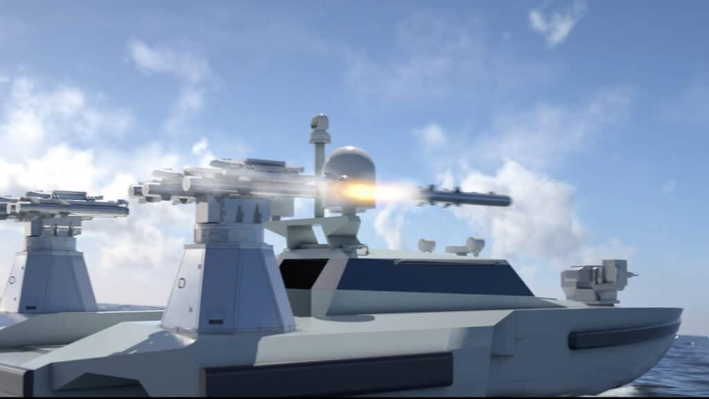 RD09 USV firing missiles
