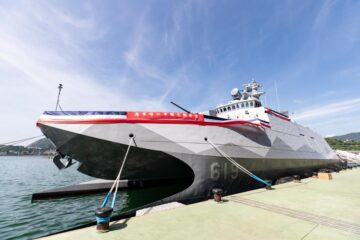 First Upgraded And Modified Catamaran Corvette Delivered to ROC Navy