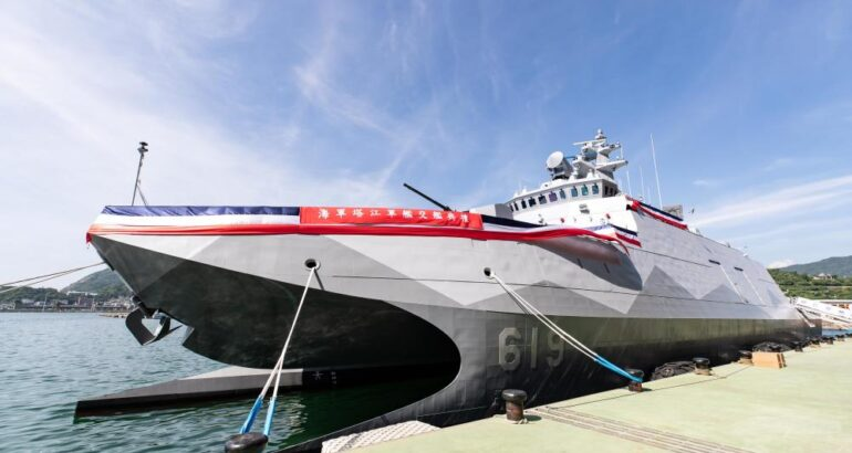 ROC Navy Commissions Her First Upgraded And Modified Catamaran Corvette