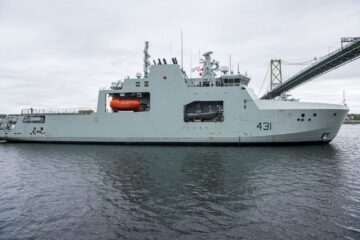 Royal Canadian Navy Takes Delivery Of Her Second Arctic And Offshore Patrol Ship