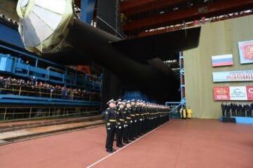 Sevmash Shipyard Launches Russian Navy Project 885M Krasnoyarsk SSGN