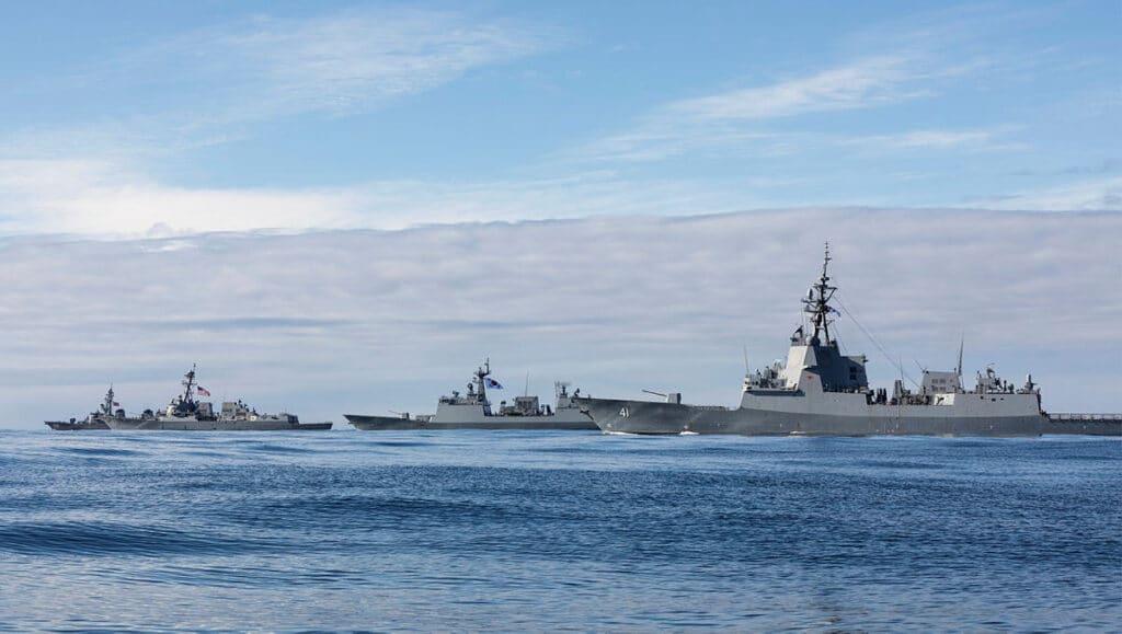 U.S., Australian, ROK And Japanese Navies Train In Exercise Pacific Vanguard 2021