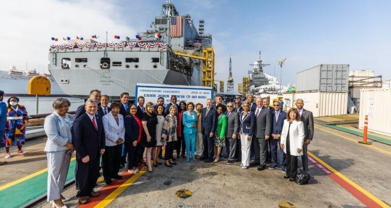 U.S. Navy Christens First John Lewis-class T-AO Fleet Oiler