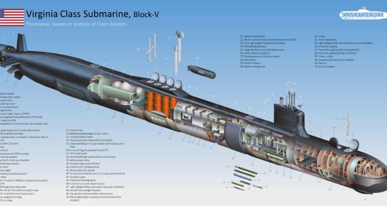 Cutaway of Virginia Class submarine