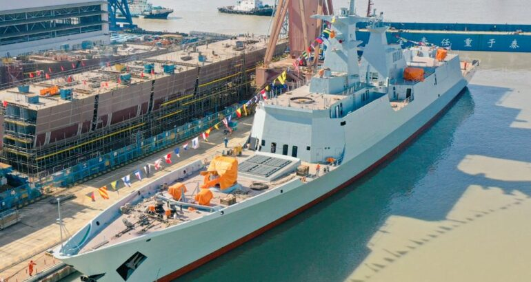Chinese Shipyard Launches 3rd Type 054 A/P Frigate For Pakistan Navy