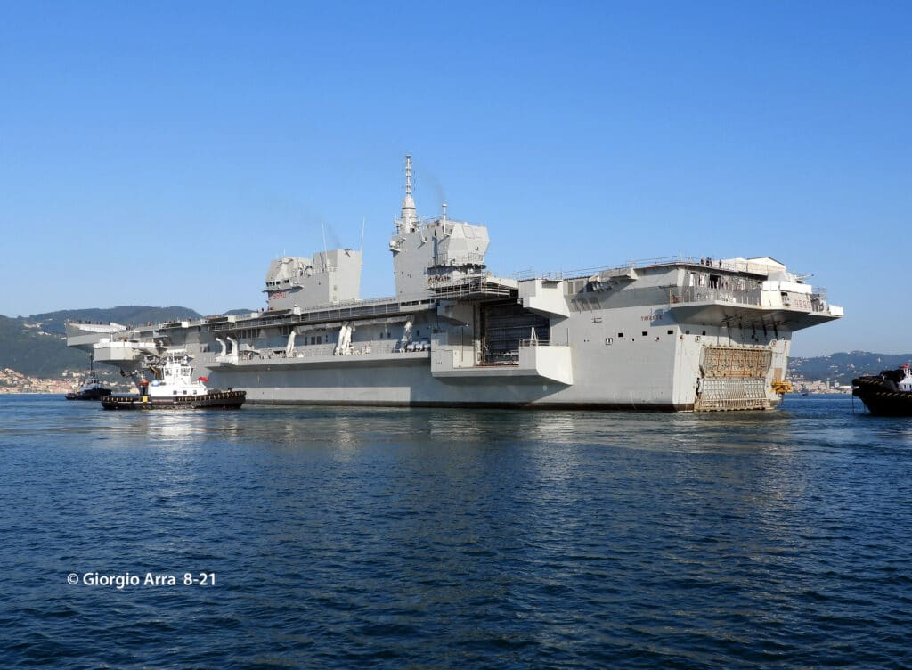 First sea-going for Italian Navy's New LHD Trieste (L 9890)