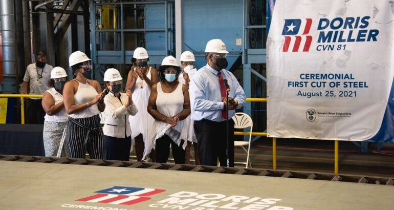 CVN 81 First Cut of Steel Ceremony