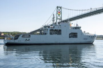 Royal Canadian Navy HMCS Harry DeWolf Departs On Her Maiden Operational Deployment