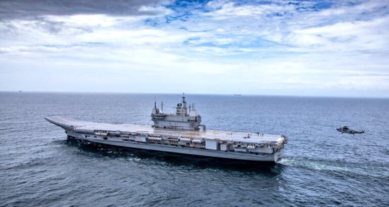 India's New Aircraft Carrier INS Vikrant Starts Sea Trials