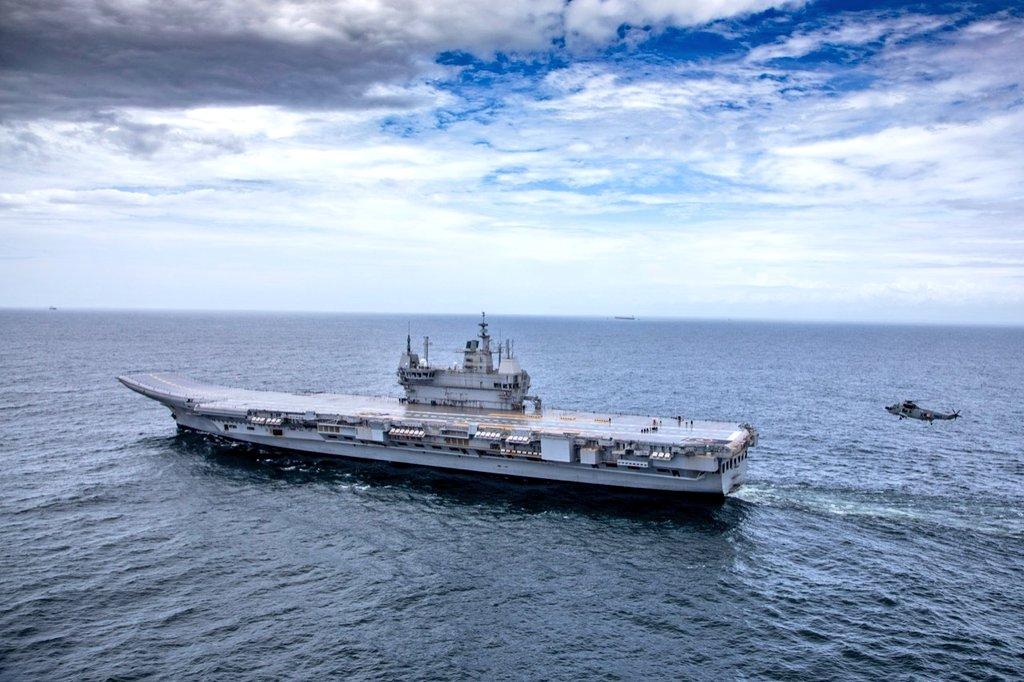 IAC-1 INS Vikrant aircraft carrier during sea trial