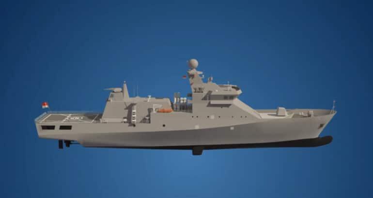 Indonesian Shipyard Cuts Steel on New OPVs for TNI AL