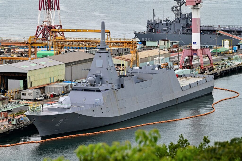 Japan's New 30FFM Frigate For JMSDF 'Kumano' 「くまの」Starts Sea Trials